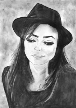 Woman with Hat by chop-chop