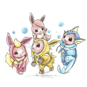 Eeveelution Playtime by ItsBirdyArt