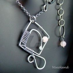 Squaring The Circle Necklace by viviola
