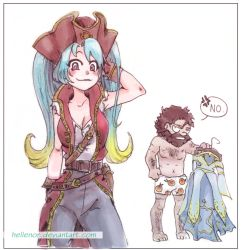 Sona and Gangplank by Hellenor