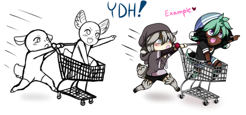 {YCH/YDH} Shopping Cart Adventures!! [OPEN] by Noodlestar0220