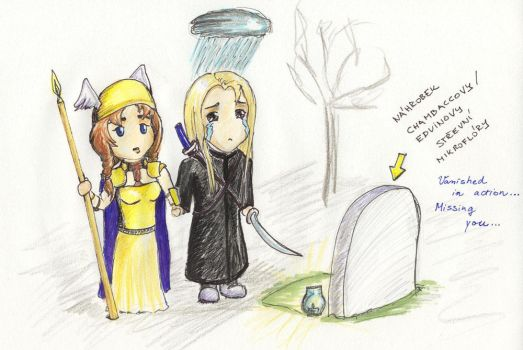 Chibi mania - Edvin mourns by Sheelena