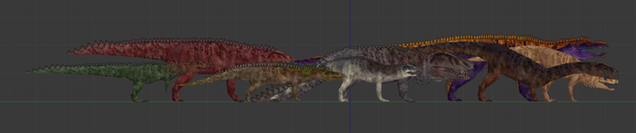 Carnivores Triassic - Rauisuchian Pack by Poharex