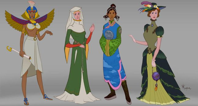 Women of the Centuries - All the ladies - WIP by lepetitgroin