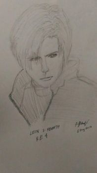 Leon S kennedy my sketch by azureblaze23