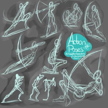 Action poses by MachoPie
