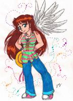 Summer Angel by Foxy-Sketches