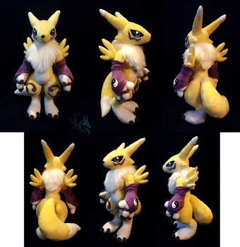 Renamon - custom plush by Fire-Topaz