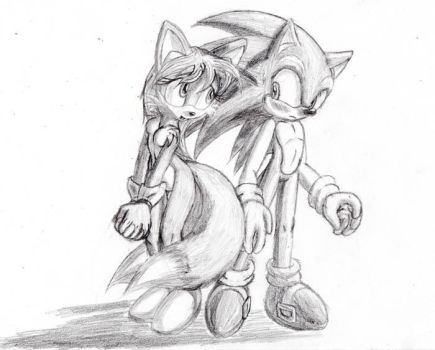 Tailsko and Sonic by 2-Tailed-Vixen