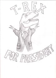 T-Rex For President by GianniScimmia