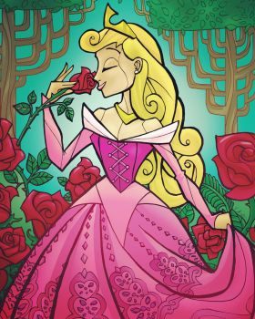 SO IN LOVE - SLEEPING BEAUTY by CThompsonArt