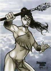 Shaman Dungeon Dolls Sketch Card by RichardCox