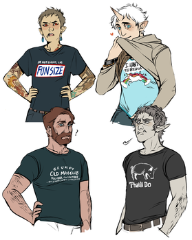 Boys in shirts by Mineiti