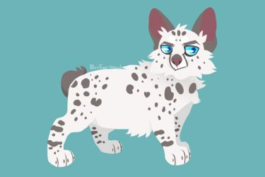 Leopardheart Lineless Art by Purrfectpal