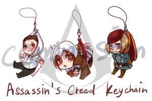 Assassin's Creed Keychains 1 by hatoribaka