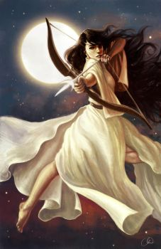 Goddess of the Moon by ChristyTortland