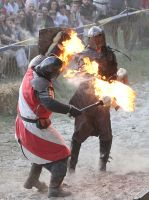 burning fight by DieCooleSocke
