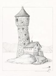 Felian's Tower [pencil] by SirInkman