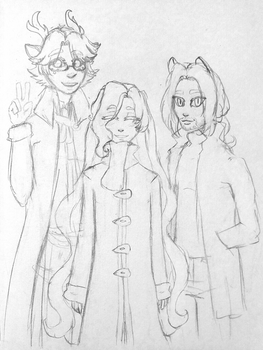 those kiddos in their winter gear i stg by astra-magicka