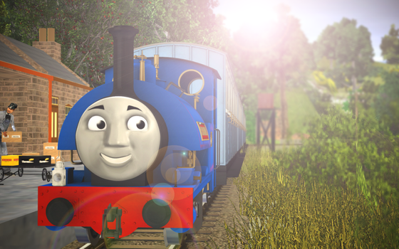 Skarloey Railway 2012 Wallpaper - (''Sir Handel'') by Nictrain123