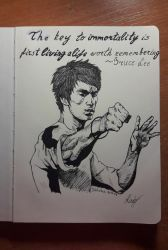 Bruce Lee - Inktober #1 by xSkyRowx