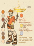 Character sheet: Fire by Tanize