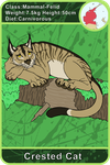 Arecacen Creature Cards: Crested Cat by Chikara-Redwing