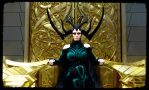 Hela on throne Thor Ragnarok Cosplay at Comic Con by Mon-Kishu