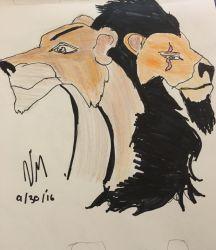 Scar and Zira the lion king by lukey5