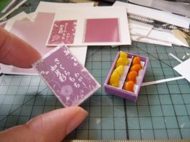 Wagashi Box with Fruit Sweets by nyann