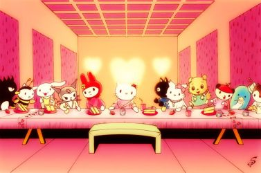 Hello Kitty Last Supper by shanepeters