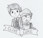 Inktober - Clive and Luke by SamCyberCat