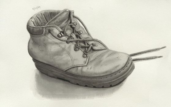 BW shoe watercolor 1 Artist John Vogel by John-Vogel