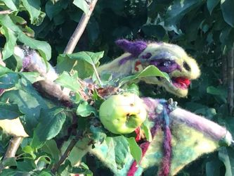 Cecil the Garden Dragon.  Needle Felt by Christine by Black-Feather