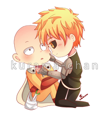 -- One Punch Man : Saitama x Genos -- by Kurama-chan