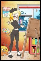 Giselle as an artist by Carlos-the-G