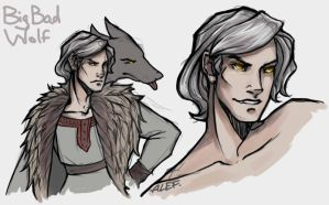 Grey Wolf from Inok by the-ALEF