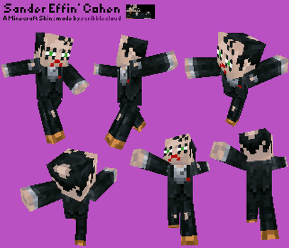Sander Cohen Minecraft Skin by scribblecloud