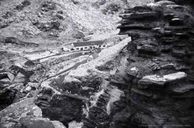 Tintagel Visitor Centre in Infrared by Quoth-Raven