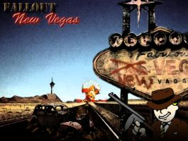 Fallout New Vegas Poster by xRedhawkAcex