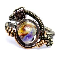 Steampunk Ring Borosilicate by CatherinetteRings