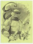 Leo tmnt ninja turtle ink wash drawing by MichaelDooney