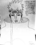 Akatsuki Pain With Qoute in Handstyle by Tooner585