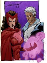 DAILY ART POST AVENGERS MONTH part2 MAXIMOFF TWINS