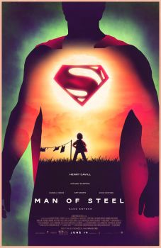 Man of steel poster by Barbeanicolas