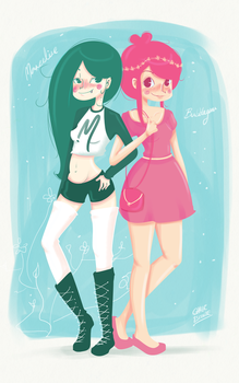 Marceline and Princess Bubblegum by ChabeEscalant