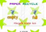 Paper Recycle Icons by star-mari