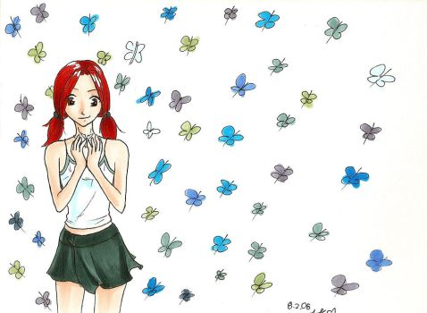 Mandi and the Butterflies by linzi-chan