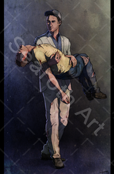 Ellis and Nick from Left 4 Dead 2 by searoth