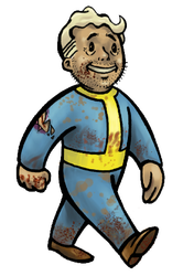 Vault boy in the wasteland. by Kabefis
